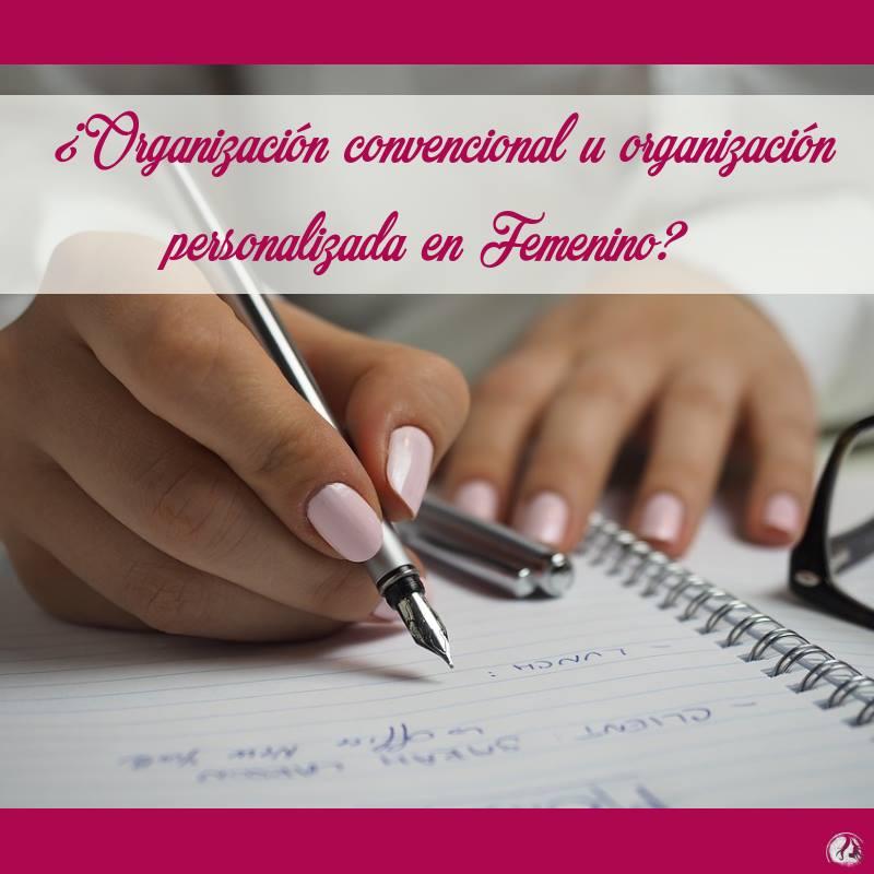 Organización personalizada en Femenino
